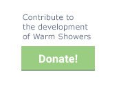 Contribute to the development of Warm Showers, Donate!