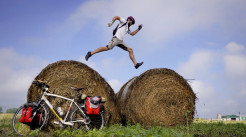 The Road Between Us-Jumping Haybales